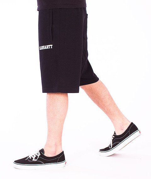 Carhartt-College Sweat Short  Black/White