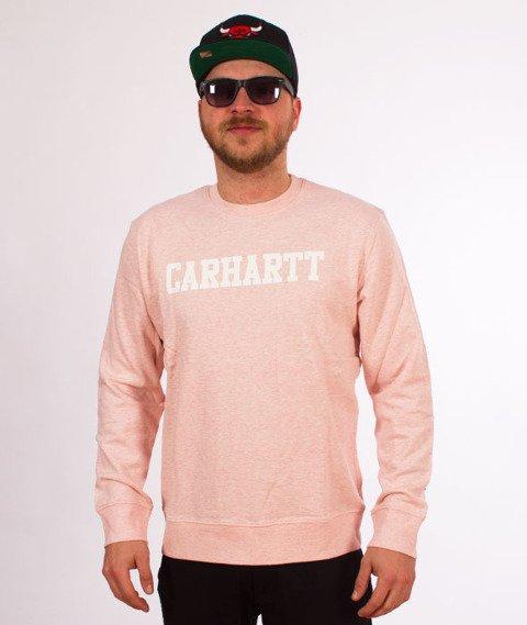 Carhartt-College Sweatshirt Sandy Rose Heather/White