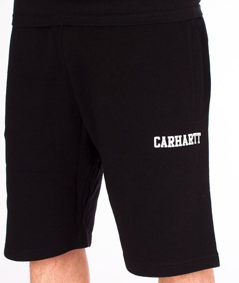 Carhartt WIP-College Sweat Short Black/White