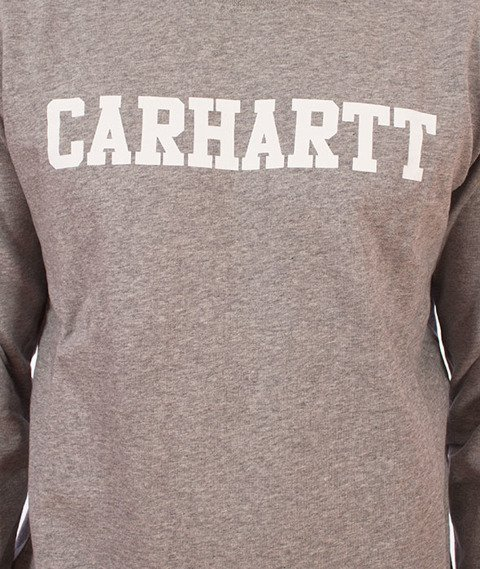 Carhartt WIP-College Sweatshirt Bluza Grey Heather/White