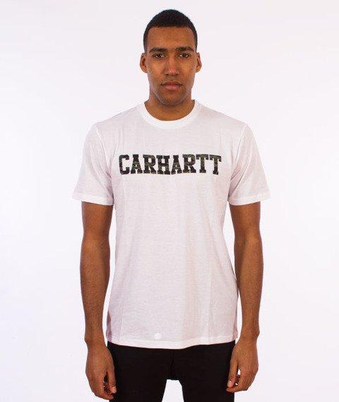 Carhartt WIP-College T-Shirt White/Camo Tiger