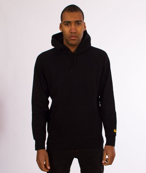 Carhartt WIP-Hooded Chase Sweat Bluza Kaptur Black/Gold