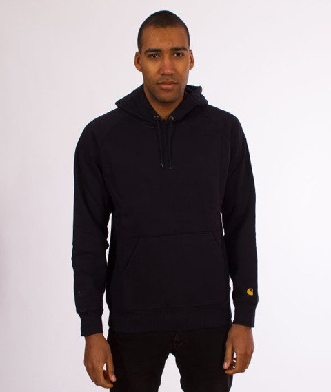 Carhartt WIP-Hooded Chase Sweat Bluza Kaptur Dark Navy/Gold