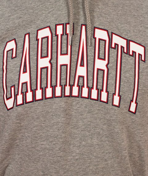 Carhartt WIP-Hooded Division Sweat Bluza Kaptur Grey Heather/Multicolor