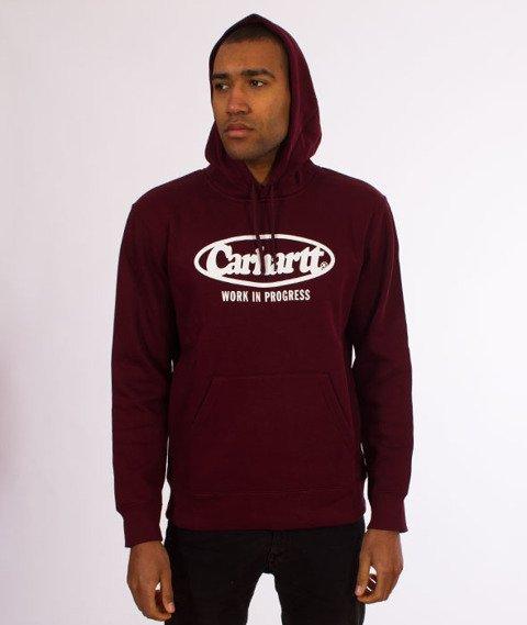 Carhartt WIP-Hooded Oval Sweat Bluza Kaptur Chianti/White