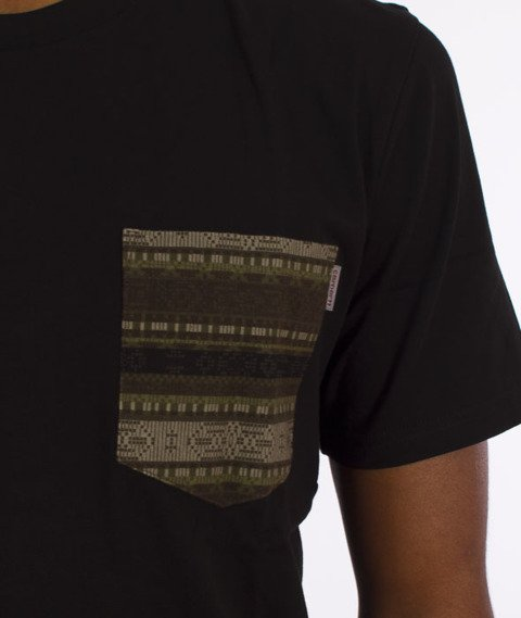 Carhartt WIP-Lester Pocket T-Shirt Black/Ethnic Print-Green