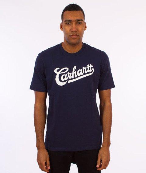 Carhartt WIP-Vintage T-Shirt  Blue/White