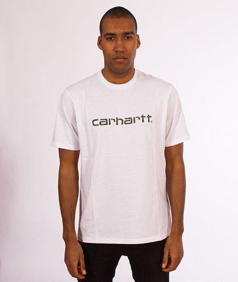 Carhartt WIP-WIP Script T-Shirt White/Tiger Camo
