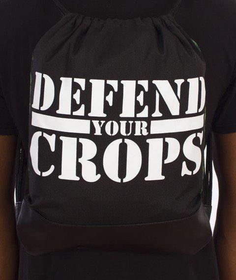 Cayler & Sons-Defend Your Crops Gym Bag Grean Leaves/Black