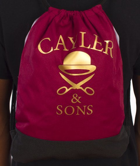 Cayler & Sons-Paris Skyline Gym Bag Maroon/Multicolor
