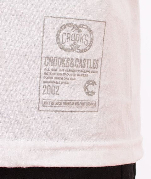Crooks & Castles-Get Paid T-Shirt Biały