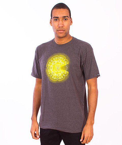 Crooks & Castles-Mirrors T-Shirt Heather Charcoal