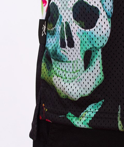 DIIL-Skull Siatka Tank Top Multikolor