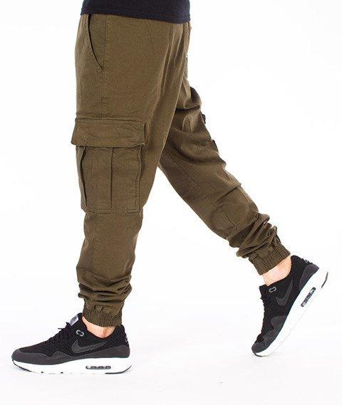 Diamante-Cargo Jogger Pants Spodnie Oliwkowe