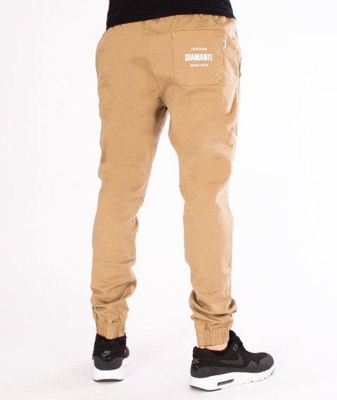 Diamante-Classic Jogger RM Spodnie Beżowe