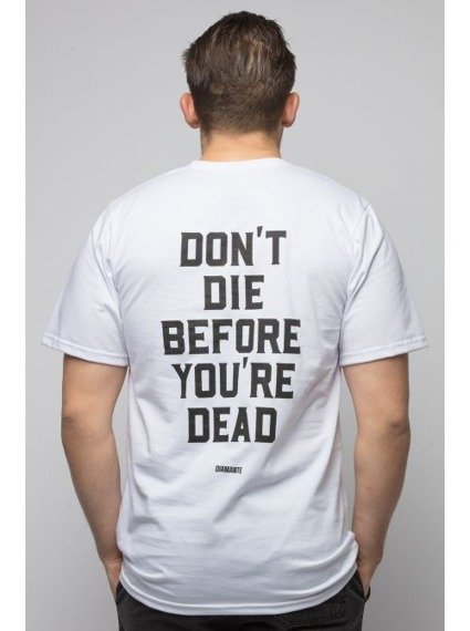 Diamante-Don't Die T-Shirt Biały