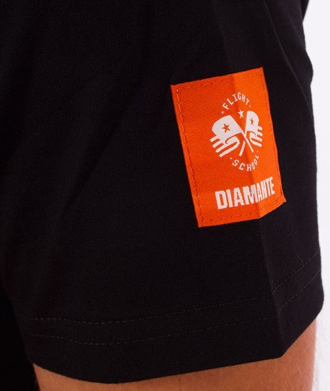 Diamante-Dropping Heat T-Shirt Czarny