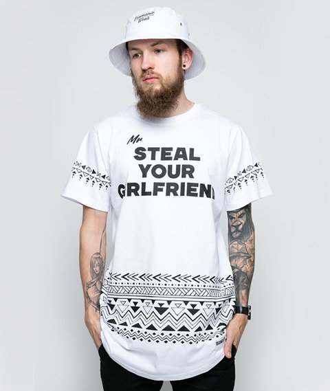 Diamante-Mr. Steal Your Girlfriend T-Shirt Biały