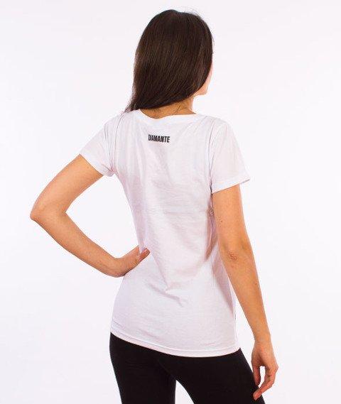 Diamante-WYJ384NE T-shirt Damski Biały