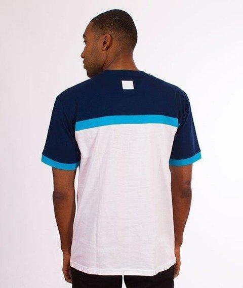El Polako-3 Color Cut T-Shirt Biały/Granat
