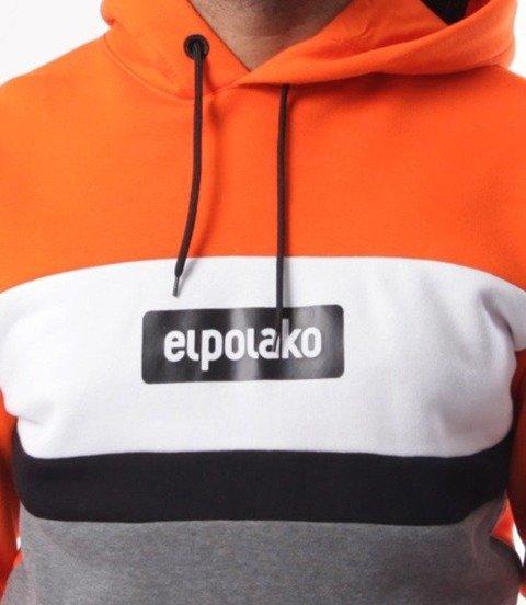 El Polako-3EP CUT Bluza Kaptur Pomarańcz