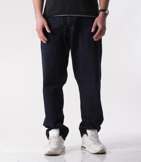 El Polako-Basic Baggy Jeans Spodnie Ciemne Spranie
