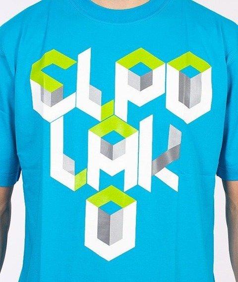 El Polako-Box T-Shirt Niebieski