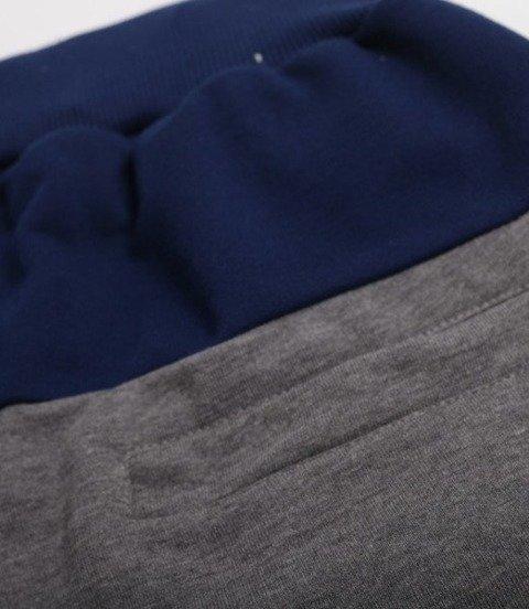 El Polako-CUT COLOR Spodnie Krótkie Dresowe Ciemno Szaro Granatowe