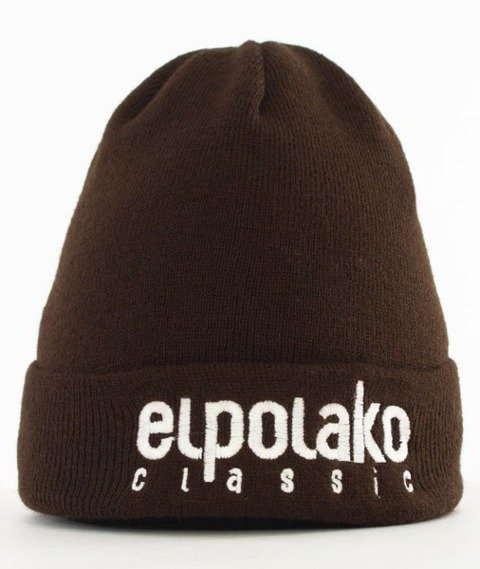 El Polako-Classic EP Czapka Wywijana Brązowa