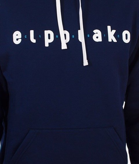 El Polako-Classic Hoody Bluza Kaptur Granatowy
