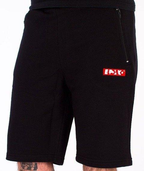 El Polako-Classic Spodnie Krótkie Dresowe Czarne