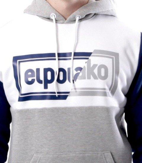 El Polako-Cut Color Bluza Kaptur Szary/Granat