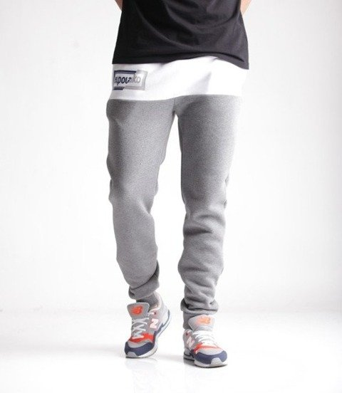 El Polako-Cut Color Fit Spodnie Dresowe Ciemno Szare