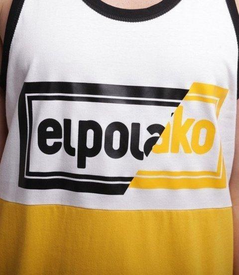 El Polako-Cut Color Tank-Top Żółto/Biały