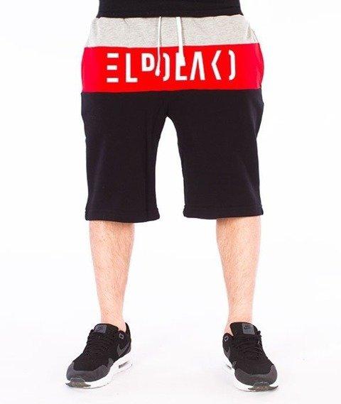 El Polako-Cut Spodnie Krótkie Dresowe Czarne
