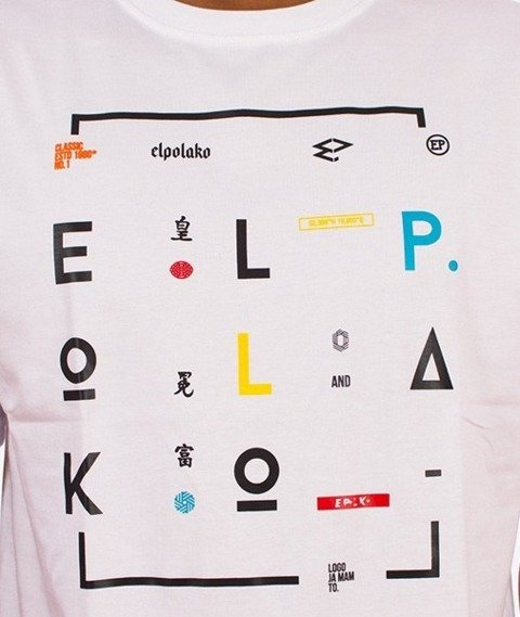 El Polako-Geometric T-Shirt Biały