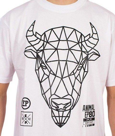 El Polako-Geometric Żubr T-Shirt Biały