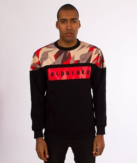 El Polako-Half Crewneck Bluza Triangle Camo Red