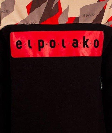 El Polako-Half Crewneck Bluza Triangle Camo Red