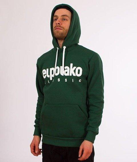 El Polako-Kangurka Classic Logo Bluza Kaptur Zielona