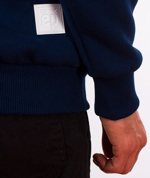 El Polako-Kangurka Classic Style Bluza Kaptur Granatowa