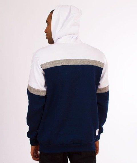 El Polako-Kangurka Colors Cut Bluza Kaptur Granat/Biały