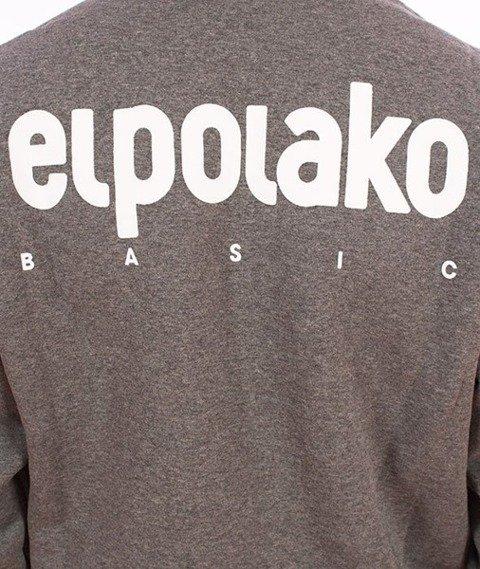 El Polako-Kangurka Little Classic Bluza Kaptur Ciemny Szary