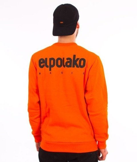 El Polako-Little Classic Crewneck Bluza Pomarańcz