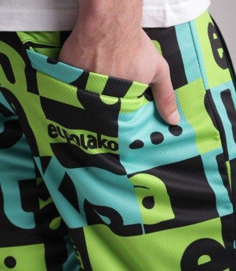 El Polako-MULTISQUARE Spodnie Krótkie Dresowe Zielone