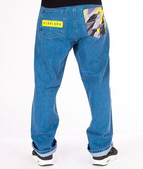 El Polako-Moro Triangle Spodnie Baggy Jeans Light Blue