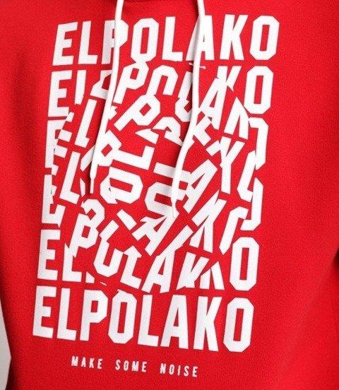 El Polako NOISE Bluza z Kapturem Czerwony