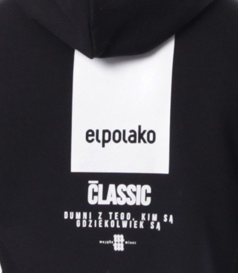 El Polako-New Box Bluza Kaptur Czarny