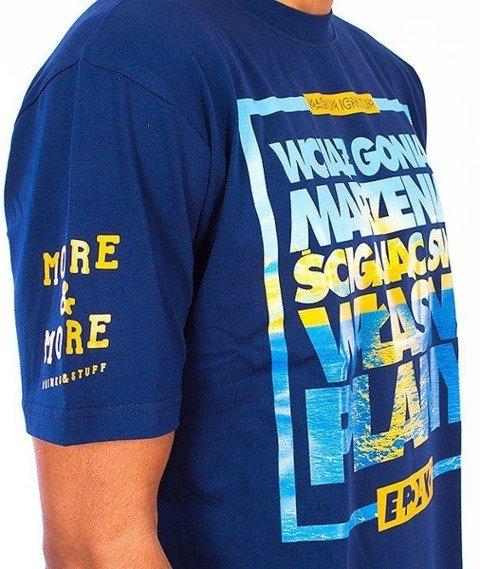 El Polako-Plany T-Shirt Granatowy