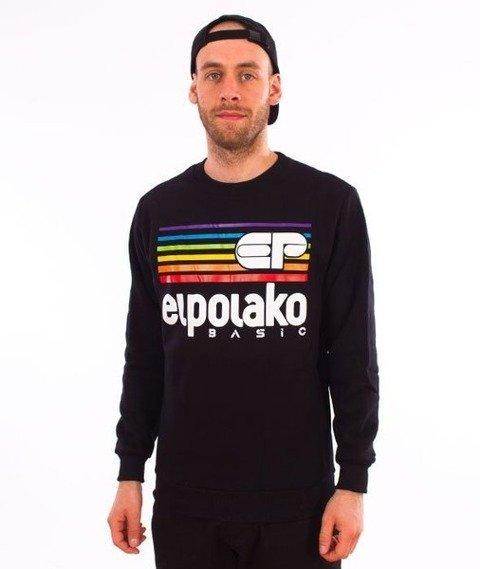 El Polako-Rainbow Crewneck Bluza Czarny